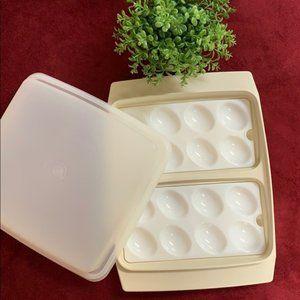 Tupperware Deviled Egg Tray Keeper Holder Carrier